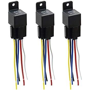 Amazon.com: uxcell DC 36V 40A SPDT Automotive Car Relay 5 ... on connected trailer plug, 6 pin plug, 7 pin plug, dmx termination plug, tape over electrical plug, 4 pin plug, 3 pin plug, 4 round trailer plug, 2 pin plug, 8 pin plug,