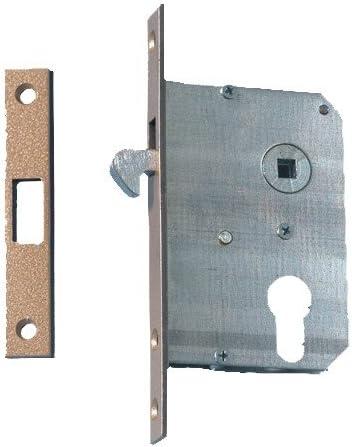 Cerradura de puerta corredera, (de chapa de acero galvanizado, con cierre): Amazon.es: Bricolaje y herramientas