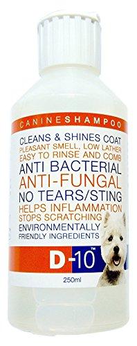 D-10 Anti-Fungal/Anti-Bacterial No Tears Dog Shampoo, 250 ml