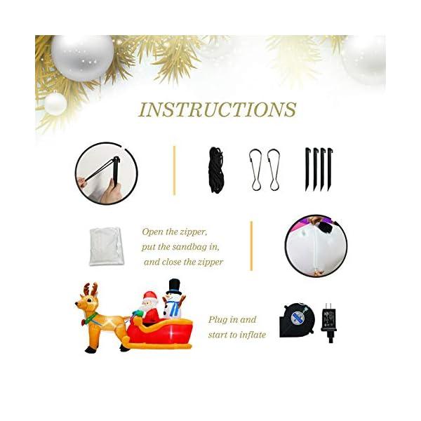 PARAYOYO - Babbo Natale gonfiabile con renna e pupazzo di neve per decorazioni natalizie 4 spesavip