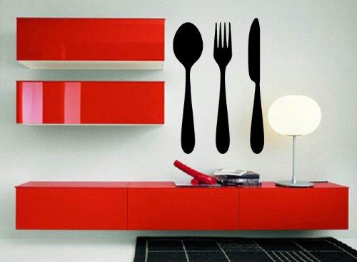 - Spoon Fork Knife Cafe Bistro Restaurant Decor Wall Mural Vinyl Art Sticker M372