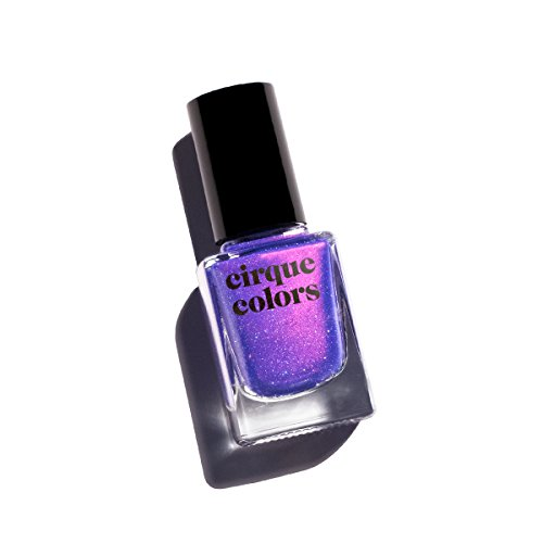 Holographic Shimmer (Cirque Colors Desert Bloom Collection - Shimmer Holographic Sparkle Nail Polish - Dusky Skies - Blue Violet - 0.37 fl. oz. (11 ml) - Vegan, Cruelty-Free, Non-Toxic Formula)