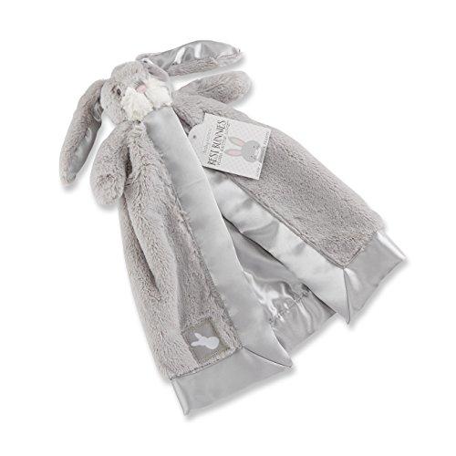 Bailey Boys Bunny (Baby Aspen Bailey The Bunny Plush Rattle Lovie, Grey/White, 0-6 Months)