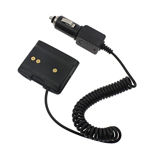KENMAX 12V Car Battery Charger Eliminator Adaptor with Waterproof Ring for Two Way Radio Yaesu VX-6R VX-7R