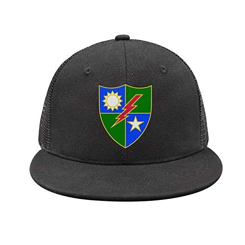 - jdadaw 75th-Ranger-Regiment-Distinctive-Unit-Insignia- Woman Man Adjustable Flat Bill Baseball Caps Sports Caps Trucker Hats
