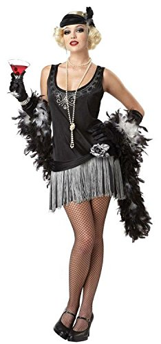 [Boop Boop A Doo Flapper Adult Costume - X-Large] (Martini Costume Halloween)