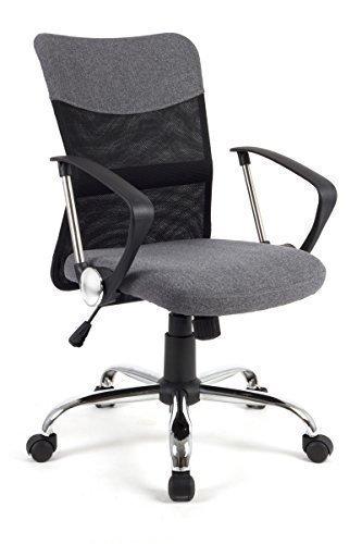 HomeKraft Star Drehstuhl Bürostuhl Schreibtischstuhl Chefsessel Bürosessel Grau