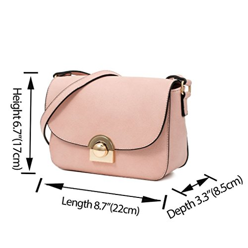 Ladies Small Body Across Shoulder Tote Holiday For Bag LeahWard® Handbags College Cross Faux 901 Pink School Work Leather Body Nice Women Bag Cross Small 0wWEt