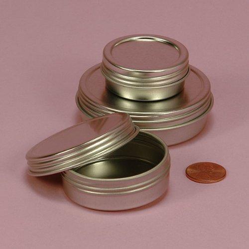 1 X Screw Top Round Steel Tins, 2oz (12 Per Pack)