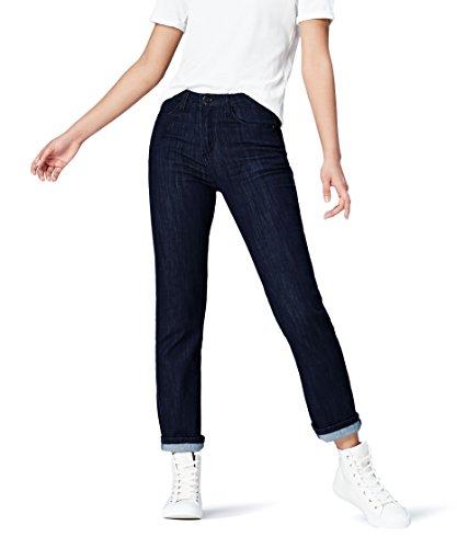 Dritti Vita Donna Blu Regular Jeans indigo Find v51qE1