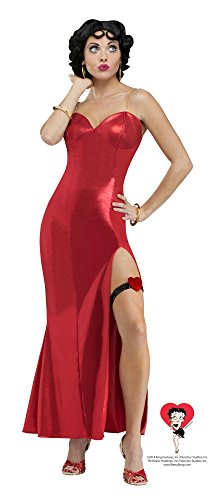 (Faerynicethings Betty Boop Adult Costume - Long Gown)