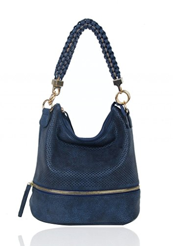 For Blue Style Women's CW150906 LeahWard® Oxford Bag Shoulder Faux Tote Leather Fashion Handbags Ladies Bags gpMwAqfx