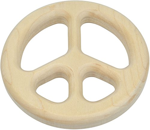 - Peace Sign Shaped Maple Teether - Made in USA