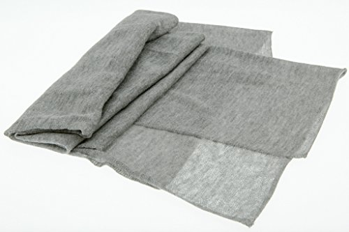 JD Love Women's Silk and Cashmere Scarf 76''X 20'' Grey by Wet Brush (Image #6)