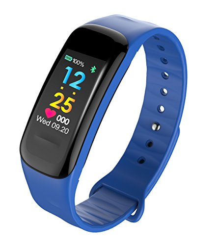 Fitness Tracker - Heart Rate Monitor Activity Band Blood Pressure Sleep Monitor Pedometer, IP67 Waterproof Smart Bracelet with
