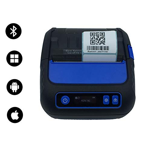 Portable Bluetooth Receipt Printers Wireless Thermal Printer 80mm LCD Display Adjustable Parameter for iOS Android Windows Receipt and Label Printer