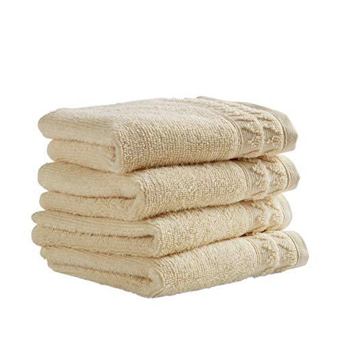Stone & Beam Tencel Washcloth Set, Set of 4, Ivory