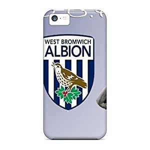 Iphone 5c Case Cover - Slim Fit Tpu Protector Shock Absorbent Case (west Brom Logo)