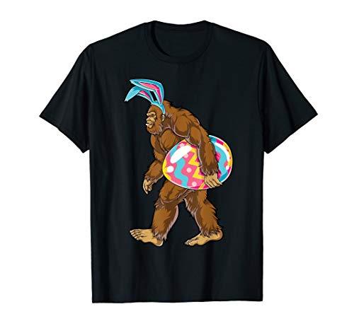 Bigfoot Easter Bunny T shirt Sasquatch Ears Egg Kids Boys]()