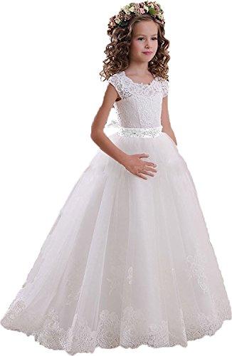Helen Lace Flower Girls Dresses for Wedding Princess Baptism Dress072 -