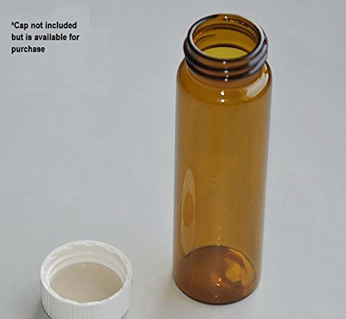 40mL Screw-Thread Storage Vial - Amber [100 vials/box] by LLES Inc. (Image #1)