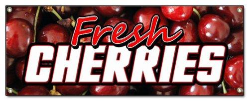 - Fresh Cherries Banner Sign Cherry Fresh Fruit Signs