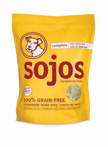 Sojos Complete Natural Grain Free Dry Raw Freeze Dried Dog Food Mix, Beef, 8-Pound Bag