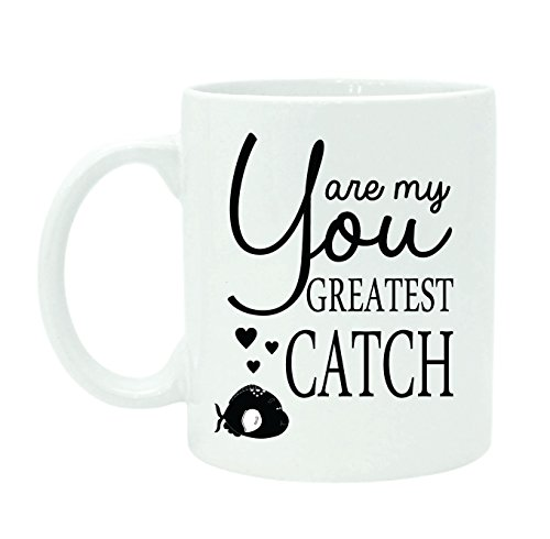 You Are My Greatest Catch Coffee Mug Inspirational Quote Cup With Free Gift Box