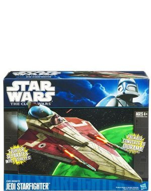 Star Wars, The Clone Wars 2011 Vehicle, Obi-Wan's Jedi Starfighter - Clone Wars Jedi Starfighter