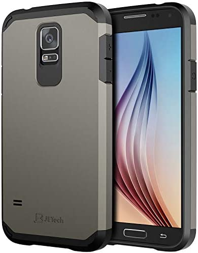 کیس JETech برای گلکسی S5 سامسونگ ، پوشش محافظ ، خاکستری