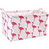 Flamingo Storage Bin Toy Basket Collapsible Box Chest...