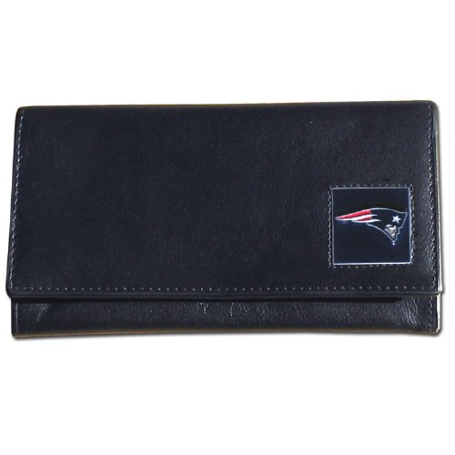 Siskiyou Gifts FFW120 Women s NFL Leather Wallet- New Englan