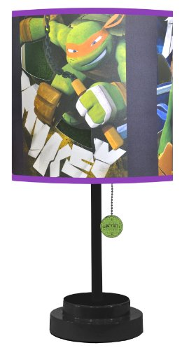 Nickelodeon TMNT Table Lamp with Die Cut Lamp Shade with CFL ()