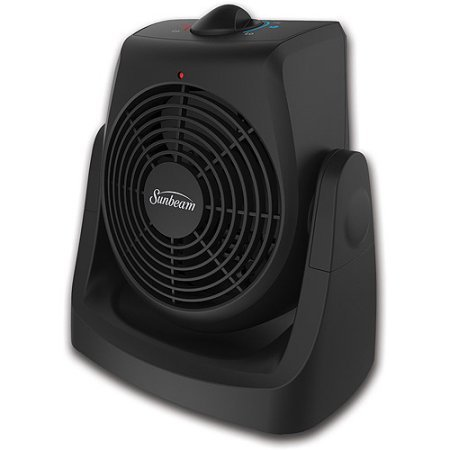 SunBeam Electric Personal Portable Space Heater Fan with Adjustable Thermostat