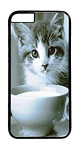 Drink Milk Animal PC Case Cover for iphone 6 4.7inch - Black