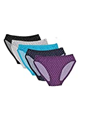 RUFINA Girls Bikini Briefs Panties Soft Underwear Kids Size 7-14 Years, Pack Of 5