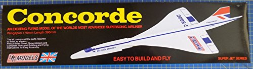 Concorde: DPR Catapault Launched Glider Balsa Wood Model Plane Kit Wingspan 170m