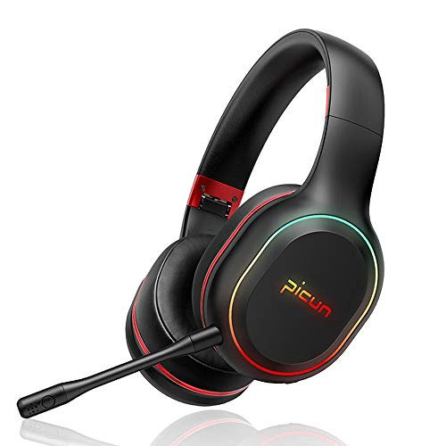 SLuB Bluetooth Headphones Over Ear Game Wireless/Wired/TF with Mic 60H Play Time Hi-Fi Deep Bass HD Stereo Sports Active…