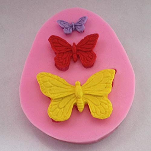- Flower Cake Decorations - Butterfly Set F0319 Fondant Mold Silicone Sugar Craft Molds Diy Gumpaste Flowers Cake Decorating - Coloring Rose Utensils Rounds Year Wilton Pearls Tool Dvds Cake