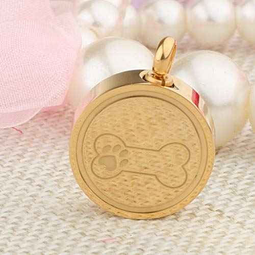 (Stainless Steel Pets Puppy Dog Ash Keepsake Memorial Charms Dog Paw and Bone Necklace Jewelry Crafting Key Chain Bracelet Pendants Accessories Best| Color -)