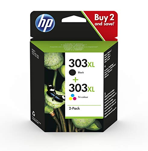 (HP 3YN10AE 303XL High Yield Original Ink Cartridges, Black and Tri-Colour, Pack of 2)