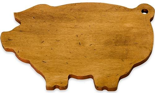 Cheap J.K. Adams 14-Inch-by-9-Inch Maple Wood Cutting Board, Pig-Shaped