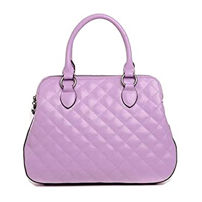 MXL Women's Purple Leather Shoulder Bag