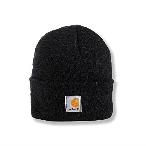 Carhartt Youth Big Boys' Acrylic Watch Hat, Caviar Black, One Size