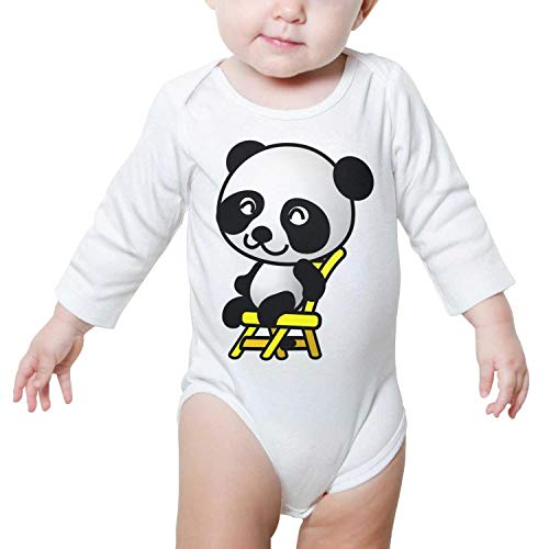 Price comparison product image Ngjdshfk Chair Panda Cotton 0-24 Months Babies Funny Long Sleeve Baby Onesie Bodysuit