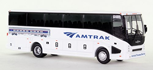 Prevost Bus (Amtrak Diecast Bus HO Scale Prevost CX35)