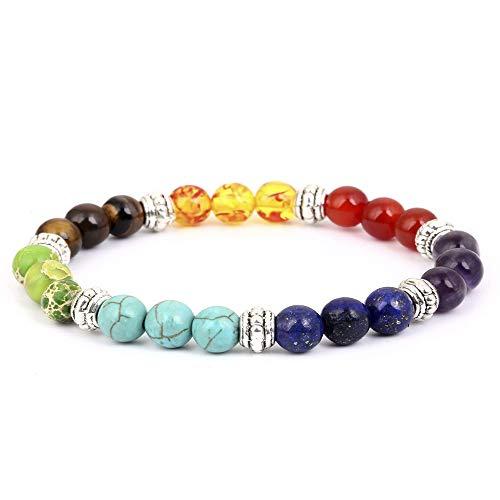 (Hotdog Lava Chakra Bracelet, Meditation Healing Yoga Braided Rope Bead Bracelet)