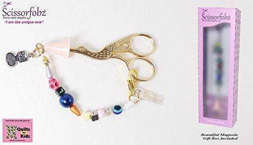 [Scissor fobs by SCISSORFOBZ-Natural Collection-One of a kind- Quilters Sewers Gifts. FREE: Golden Stork Embroidery Scissors, Bluetooth Scissorfinder, Magnetic Gift Box & Reusable Tote bag.] (One Of A Kind Costumes)