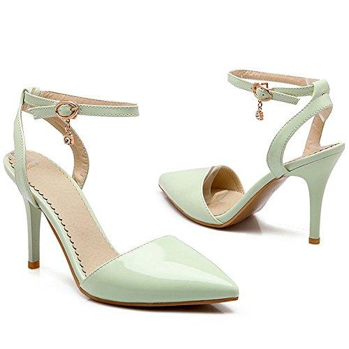 Heel Fashion Sandals Office Women High Green Dress Pointed Thin LongFengMa Toe p4wgCqYB