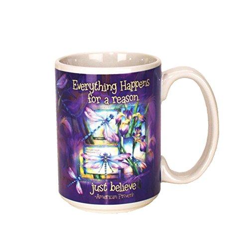 - Spoontiques Dragonfly ceramic Coffee Mug, Purple